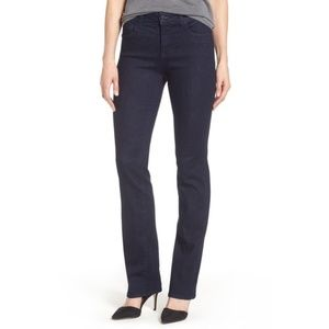 NYDJ Marylin Straight Embellished Dark Wash Jeans